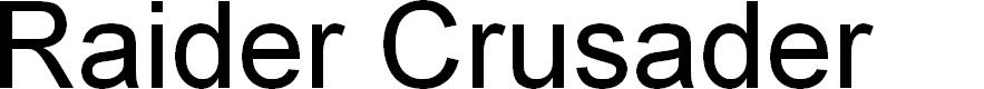 Preview image for Raider Crusader Font