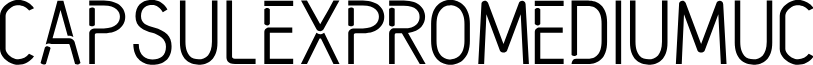 CapsuleXProMediumUC font