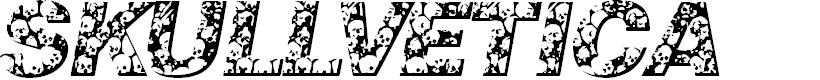 Preview image for Skullvetica Font