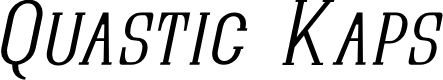 Preview image for Quastic Kaps Thin Italic