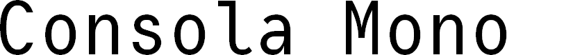 Preview image for Consola Mono Font