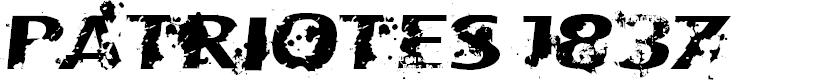 Preview image for CF Patriotes 1837 Regular Font