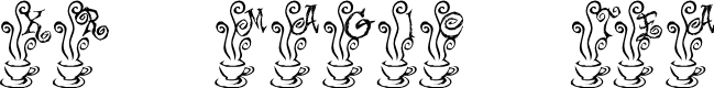 Preview image for KR Magic Tea Font