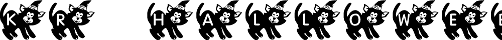 Preview image for KR Halloween Kitten Font