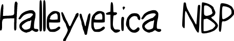 Preview image for HalleyveticaNBP Font