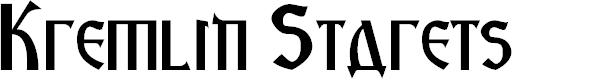 Preview image for Kremlin Starets Font