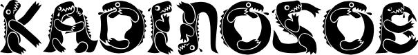 Preview image for KADinosob Font