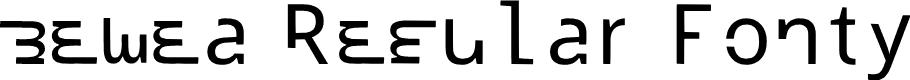 Preview image for bewea Regular Fonty Font