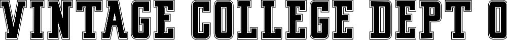 Preview image for VINTAGE COLLEGE DEPT_DEMO_outline Font