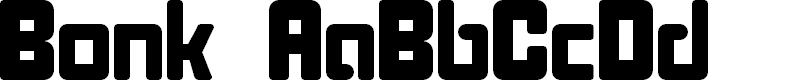 Preview image for Bonk Font