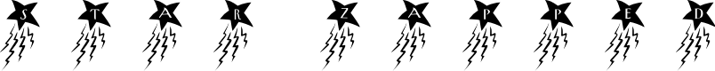 Preview image for 101! Star ZappeD Font