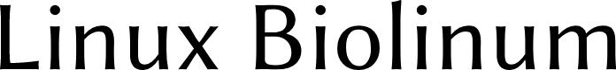 Preview image for Linux Biolinum