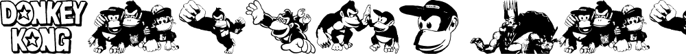 Preview image for Donkey Kong World Font