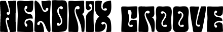 HendrixGroovedemo font