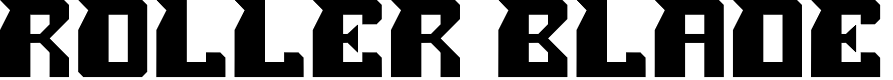 Preview image for ROLLER BLADE Font
