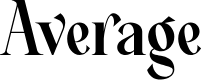 Preview image for Average Font