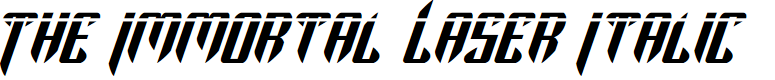 Preview image for The Immortal Laser Italic