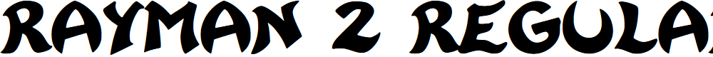 Preview image for Rayman 2 Regular Font