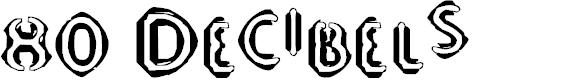 Preview image for 80 Decibels Font