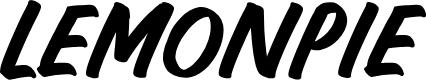 LEMONPIE by hugefonts