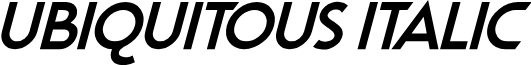 Ubiquitous Italic
