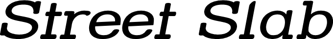 Preview image for Street Slab - Wide Italic