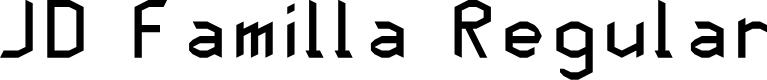 Preview image for JD Familla Regular Font