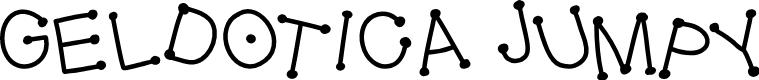 Preview image for GelDoticaJumpy Font