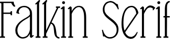 Preview image for Falkin Serif PERSONAL Font