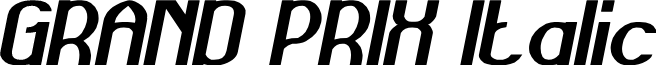 GRAND PRIX Italic
