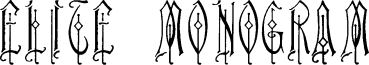 Elite Monogram (Alternika Fonts)