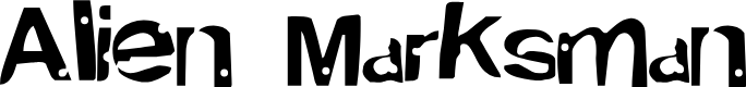 Preview image for Alien MarksmanRegular Font