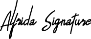 Preview image for Alfrida Signature Font