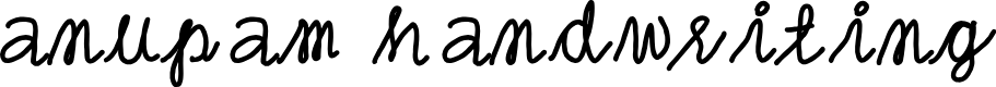 Preview image for anupam handwriting