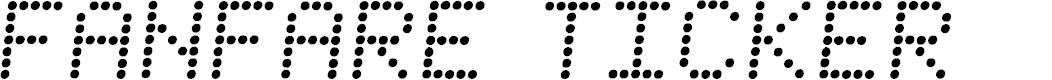 Preview image for Fanfare Ticker Semi-Italic