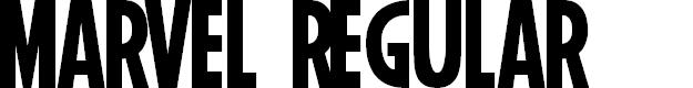 Preview image for Marvel Regular Font