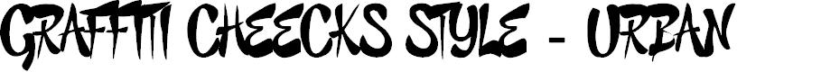 Preview image for GRAFFITI CHEECKS STYLE - URBAN Font