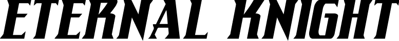 Preview image for Eternal Knight Condensed Italic