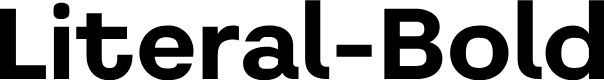 Preview image for Literal-Bold Font