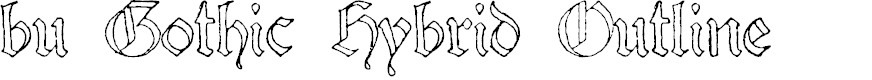Preview image for bu Gothic Hybrid Outline Font