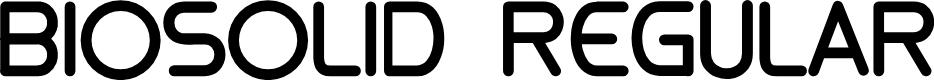 Preview image for biosolid Regular Font