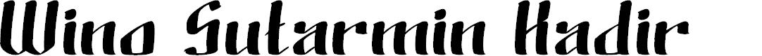 Preview image for Wino Sutarmin Kadir Font