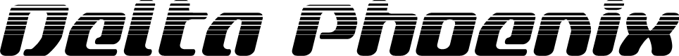Preview image for Delta Phoenix Halftone Italic