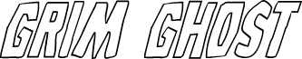 Grim Ghost Outline Italic