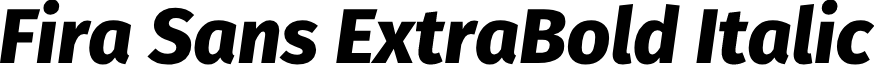 Fira Sans ExtraBold Italic