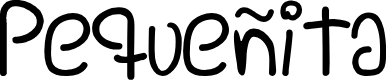 Preview image for Pequeñita Font
