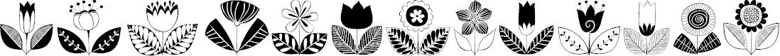 Preview image for DoodleDings 2 RetroFlowers Font