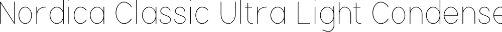 Nordica Classic Ultra Light Condensed