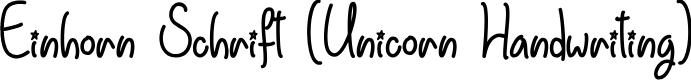 Preview image for Einhorn Schrift Font