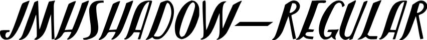 Preview image for JMHShadow-Regular Font